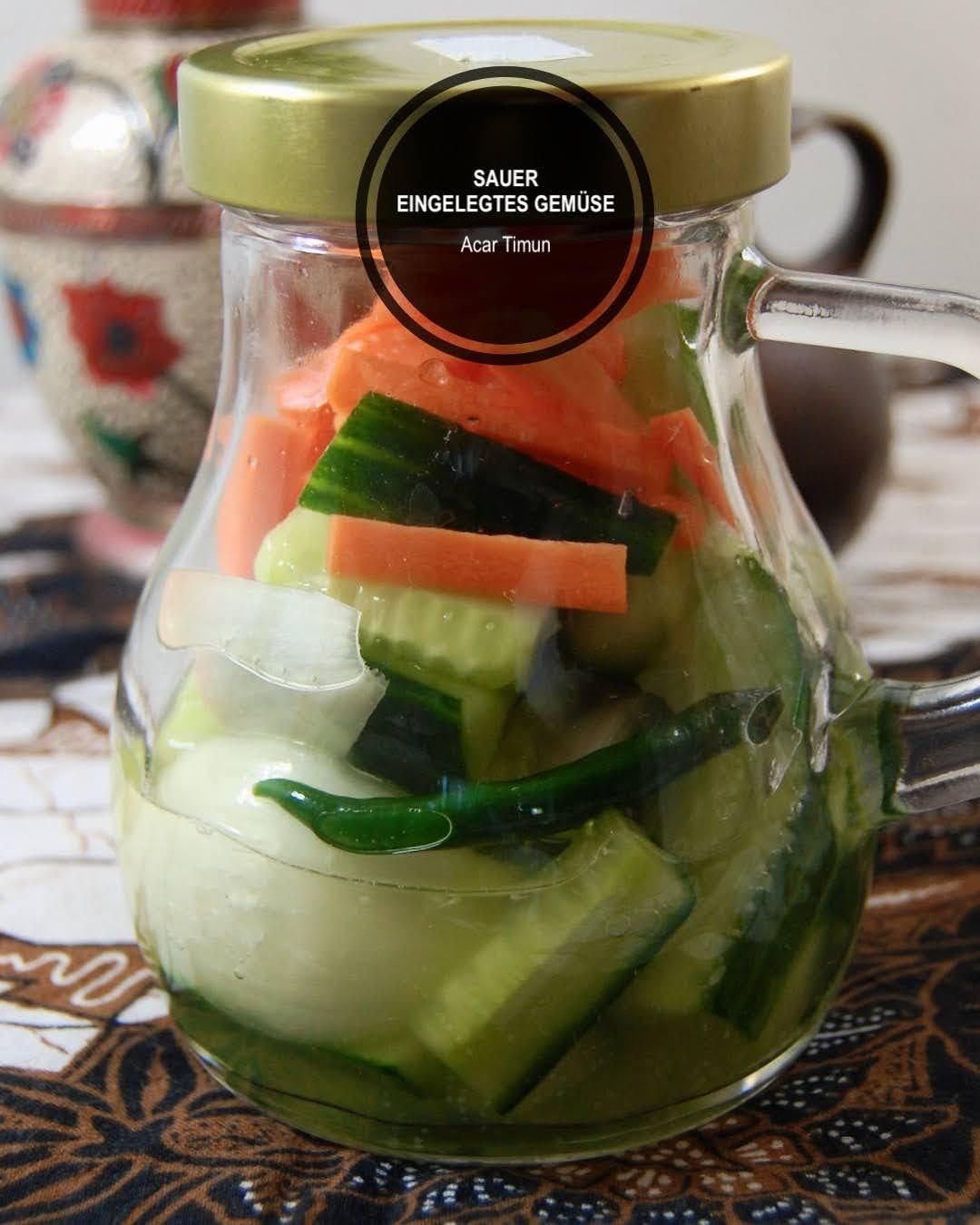 Rezept Acar Timun, Sauer eingelegtes Gemüse aus Indonesien