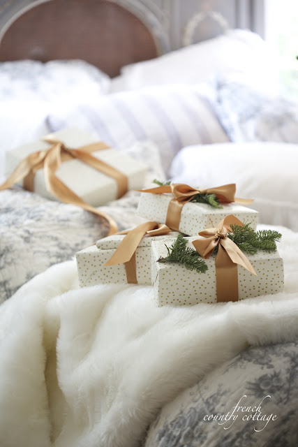 Christmas bed with presents