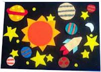 Mainan edukatif flanel playboard di angkasa
