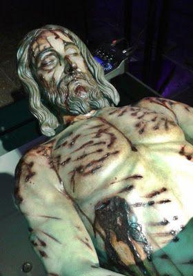 Cristo camino hasta el monte calvario