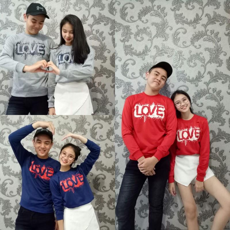 Jual Online Sweater Love Actually Murah Jakarta Bahan Babytery Terbaru