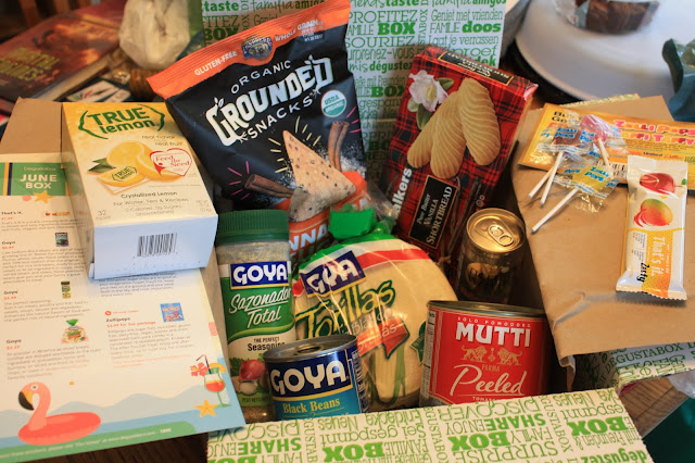 A peek inside June's Degustabox full of foodie items.