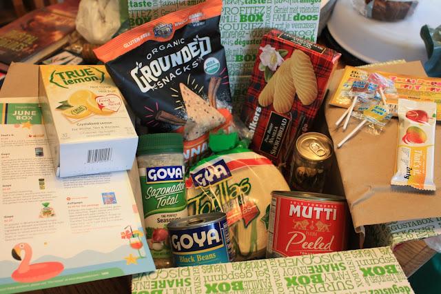 A peek inside June's Degustabox full of foodie items.