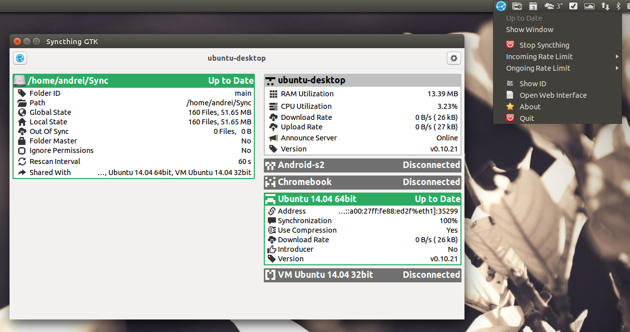 Syncthing GTK 0 6 Released With Nautilus, Nemo And Caja Integration