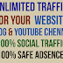 Targeted Unlimited Social Visitors for your Website Traffic