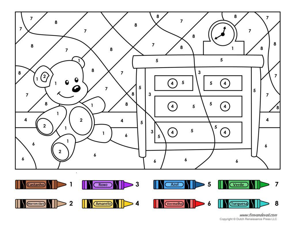 Desenho com Número para Colorir