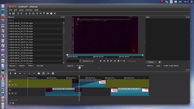 كيفية تثبيت برنامج Shotcut لتعديل الفيديو على أوبنتو 15.04/14.10