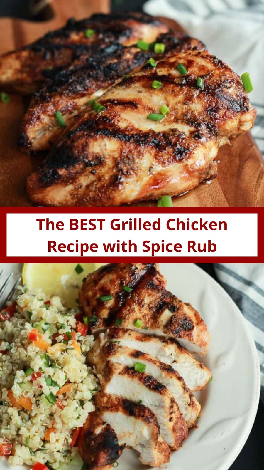 Easy Grilled Chicken Breast Recipe + Homemade Spice Rub