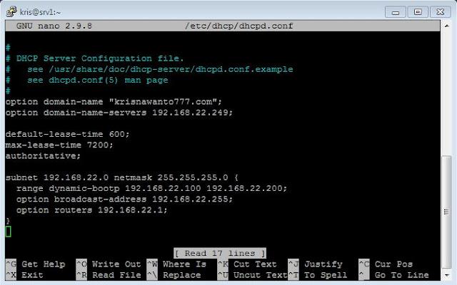 cara, install, DHCP, di, centos 8, server