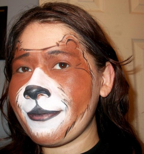 Teddy Bear Face Paint Design