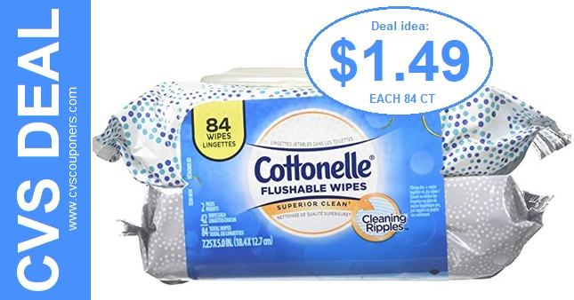Cheap Cottonelle Flushable Wipes at CVS