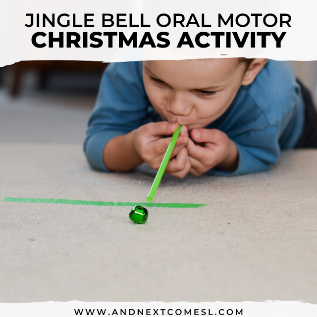 Christmas minute it to win it game using jingle bells