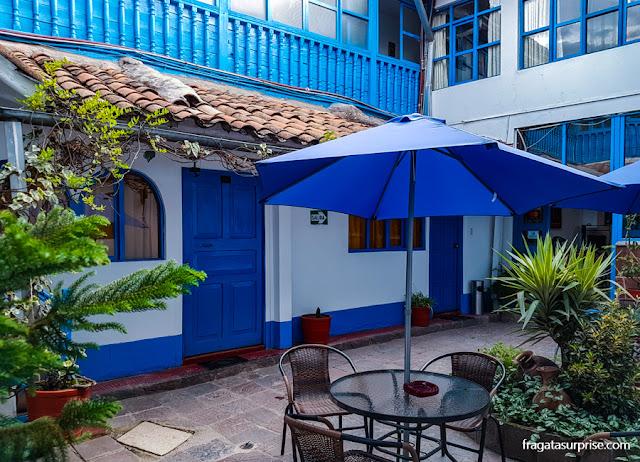 Pátio interno do Hotel La Casona de Rimacpampa, Cusco