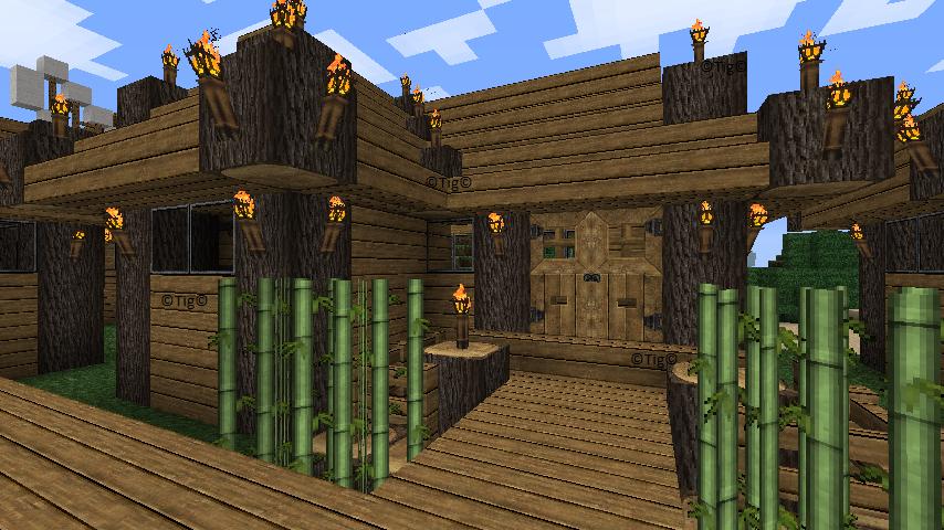 demi bambou pour toiture