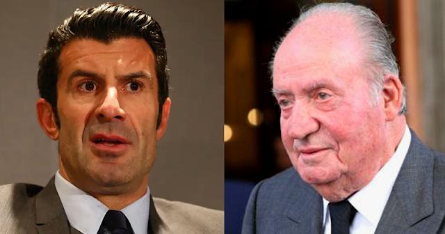 Luis Figo recibe un aluvión de críticas tras apoyar al rey Juan Carlos
