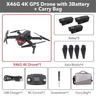 Spesifikasi Drone CSJ-X8 dan X46G-4K - OmahDrones