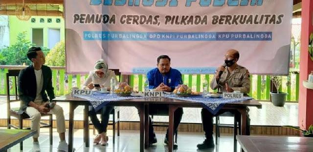 Kasat Binmas Polres Purbalingga Jadi Narasumber Diskusi Publik Pilkada 2020