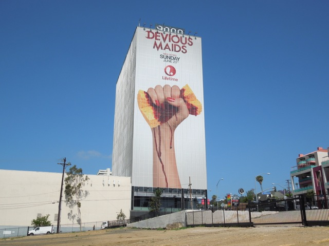 Giant Devious Maids billboard Sunset Strip