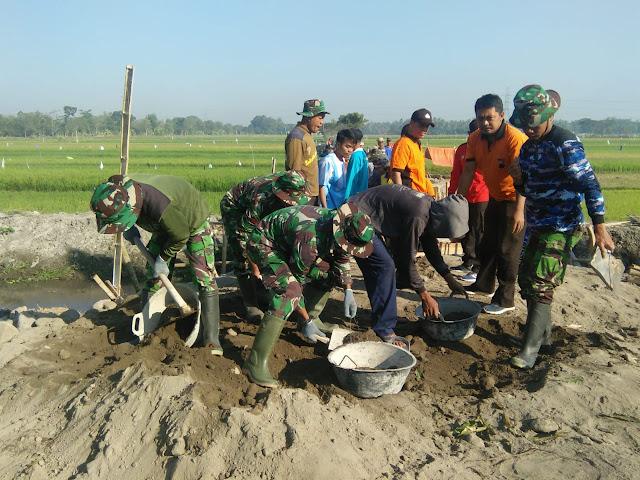 Polri Dukung Penuh TNI dalam TMMD Reg 105 Kodim Klaten
