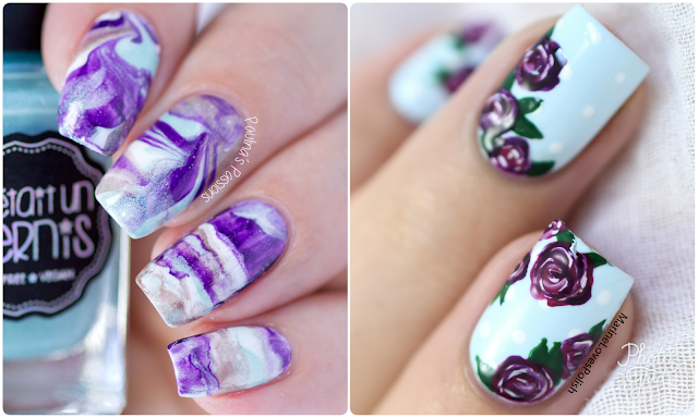 Easy Vintage Roses Nail Art – Maniswap with Paulina's Passions! [VIDEO TUTORIAL]