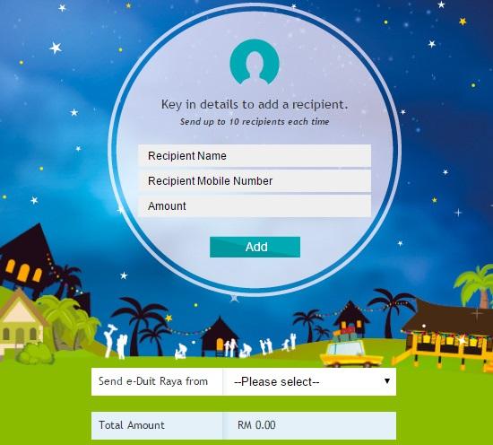 cara hantar, kirim, transfer e-duit raya melalui maybank2u, panduan hantar duit raya guna maybank2u