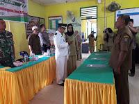 Serka Hermanto Babinsa 12/Air Batu Hadiri Undangan Pelantikan Kepala Dusun di Desa Sei Alim Ulu