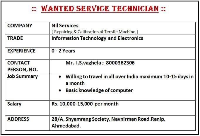 ITI Jobs For Electronic Machine And Information Technology