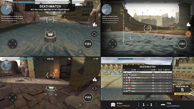 Game Online Android Ukuran Kecil Massive Warfare Aftermath - PVP dengan Kapal, Tank atau Helikopter
