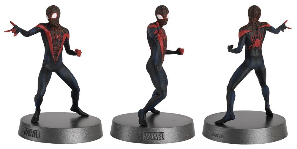 miles morales spider-man marvel comics heavyweights figurines, colección mavel comics pesos pesados, eaglemoss collections, hero collector, miles morales spider-man figurine