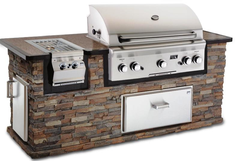 Outdoor Kitchen Cooler Built In Stainless Grill