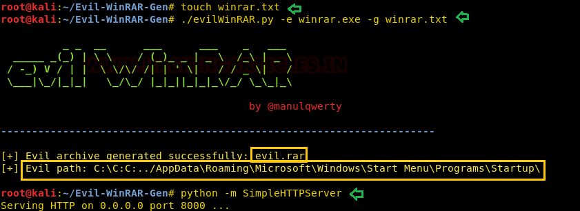 Code Execution from WinRAR
