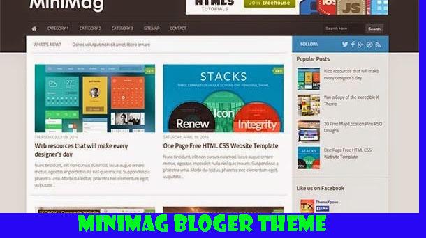 Minimag Premium Blogger Theme Responsive - Responsive Blogger Template