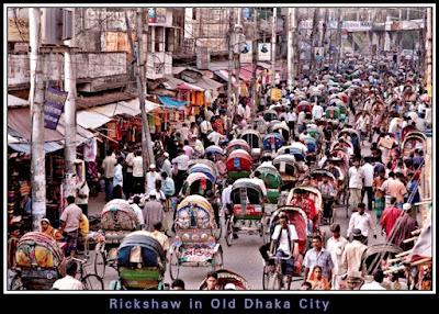 Rickshaw Jam, Old Dhaka, Trip Navigation Bangladesh