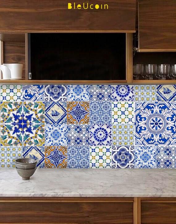 Gypsy Yaya Bleucoin Tile Decals