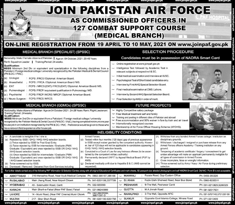 Latest Jobs in Pakistan Air Force PAF 2021- Apply online