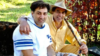 sunny is body duble for father dharmendra's film main inteqaam loonga