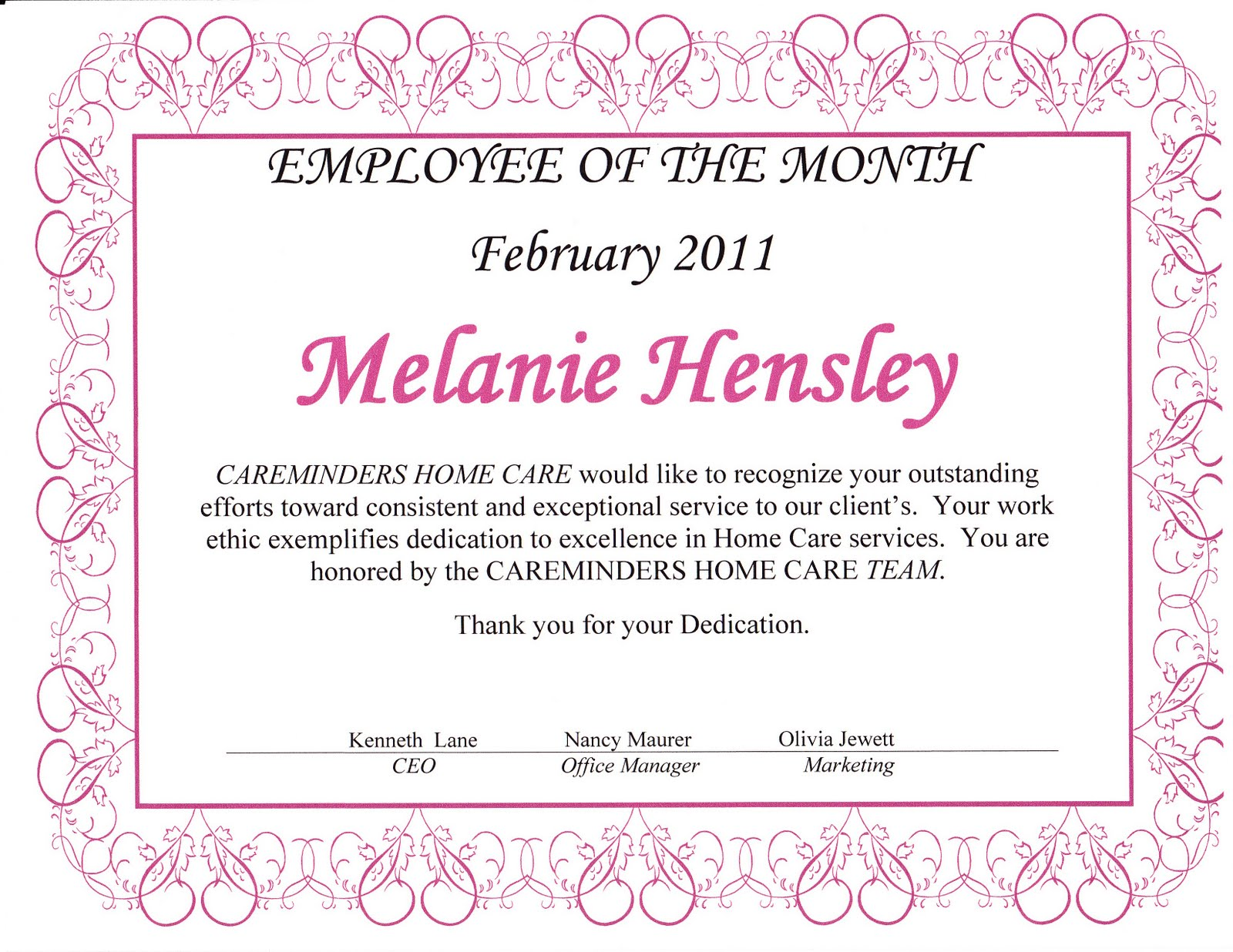 employee of the month certificate template with picture - employee of the month certificate template bing images