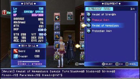 Sword Art Online: Infinity Moment (English Patch + DLC) PSP ISO Screenshots #3