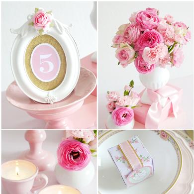 Idées de Mariage DIY Romantique en Rose
