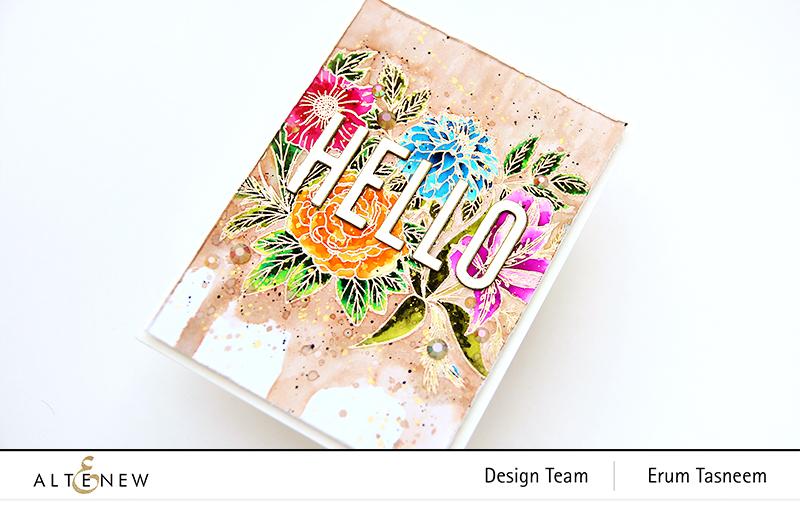 Altenew Exotic Garden Stamp Set | Erum Tasneem | @pr0digy0