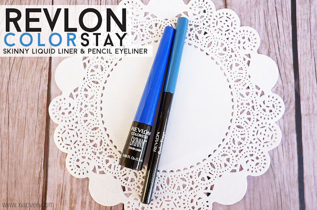 Revlon Colorstay Skinny Liquid Liner & Pencil eyeiner review, blue liquid eye liner, blue eye liner