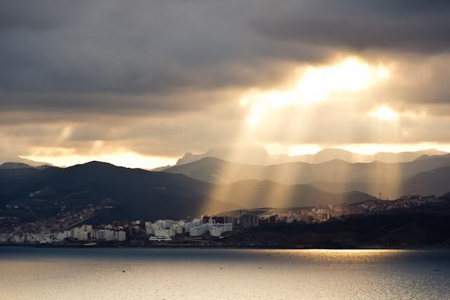 Costa de Marruecos desde el Recinto Sur de Ceuta