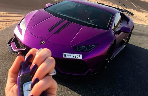 Lamborghini Huracan in purple