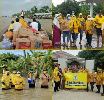Kader Partai Golkar Secara Kontinu dan Masif Beri Bantuan Warga Terdampak Banjir