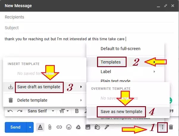 how to create gmail templates