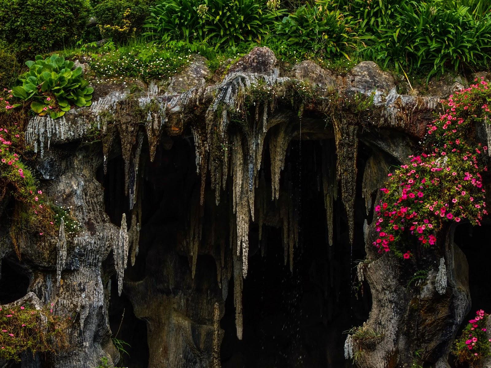 Cave in the top garden in the Bom Jesus do Monte Sanctuary.