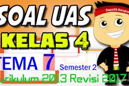 SOAL UAS KELAS 4 Semester 2 TEMA 7 K13/Kurikulum 2013 Revisi 2017