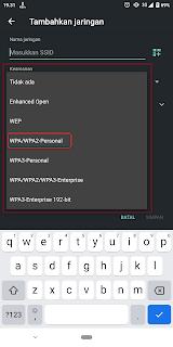 Jaringan wifi tersembunyi tidak bisa tersambung