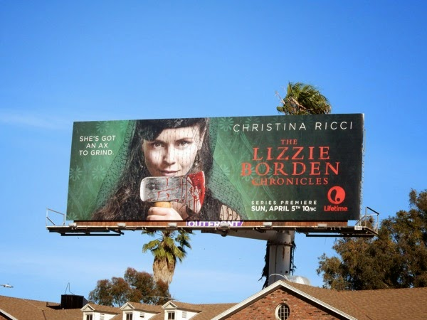 Lizzie Borden Chronicles Lifetime billboard