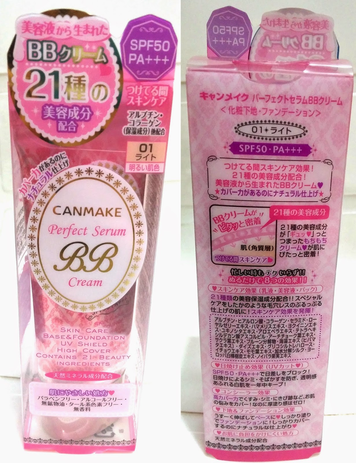 Wateryscenery Canmake Perfect Serum Bb Cream Spf50 Pa In 01 Light Original Truthfully There Are Two Types Of Nowadays Its The And Version Ive Read A Few Reviews That Tells About